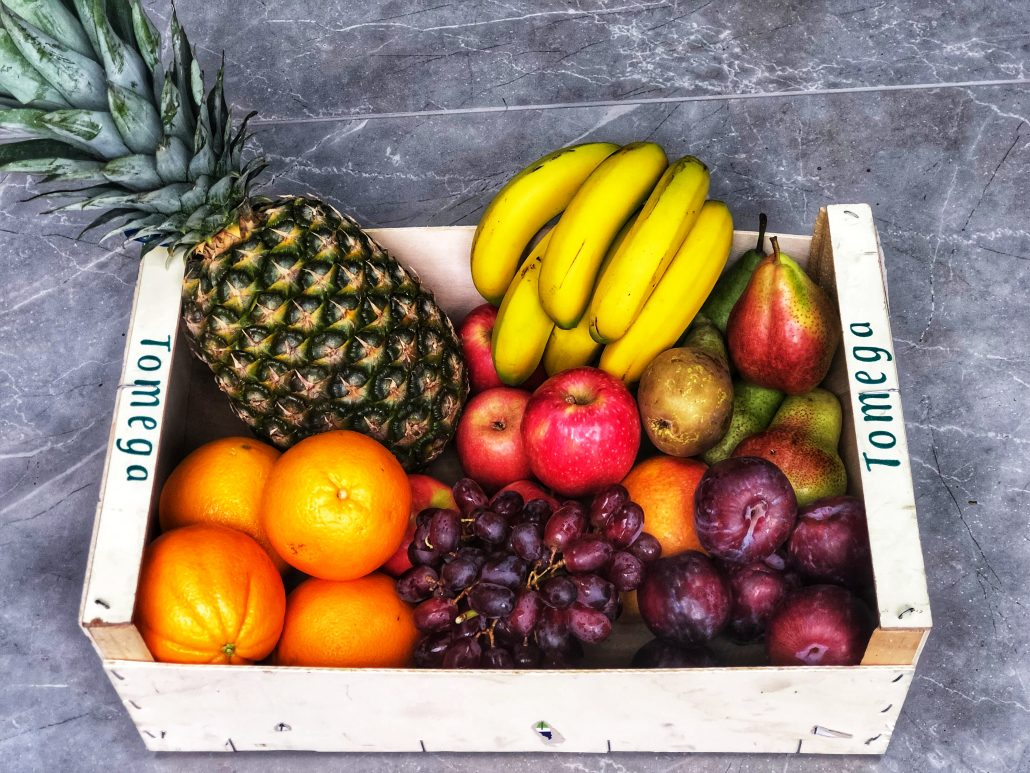 Large organic fruit box