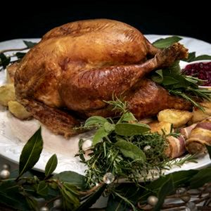 A cooked Bronze Turkey